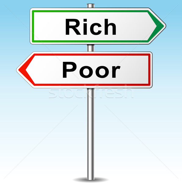 Vector rich and poor concept Stock photo © nickylarson974