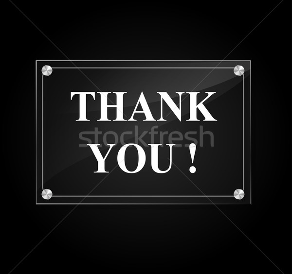 Vector thank you sign Stock photo © nickylarson974