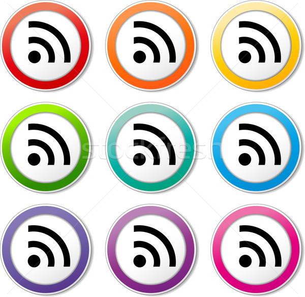 wi fi signal icons Stock photo © nickylarson974
