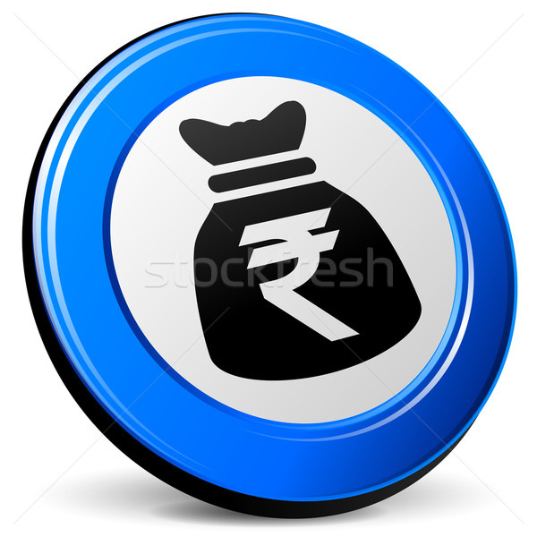 rupee bag icon Stock photo © nickylarson974
