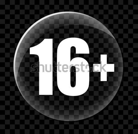 On altı etiket ikon örnek basit dizayn Stok fotoğraf © nickylarson974