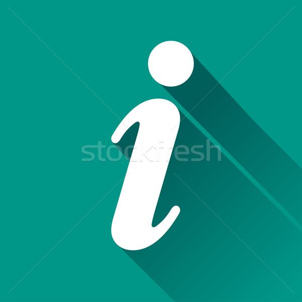informations flat design icon Stock photo © nickylarson974
