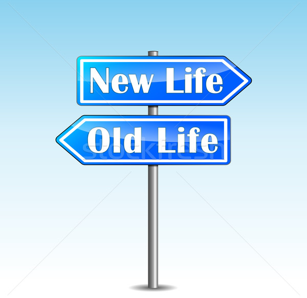 Vector new life directional sign Stock photo © nickylarson974
