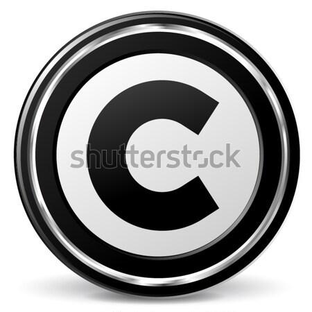 Vecteur droit d'auteur icône noir bleu design Photo stock © nickylarson974