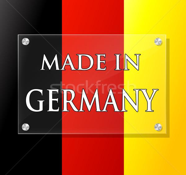 Vector made in germany sign Stock photo © nickylarson974