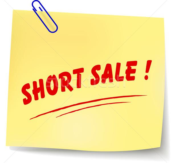 Vector short sale message Stock photo © nickylarson974