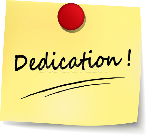 dedication yellow note Stock photo © nickylarson974