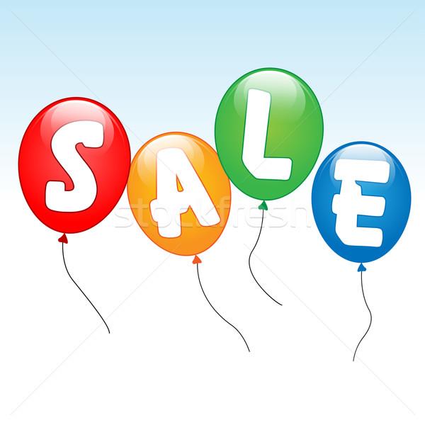sale balloons Stock photo © nickylarson974
