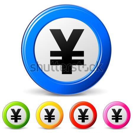 Vettore verde yen icona bianco Foto d'archivio © nickylarson974