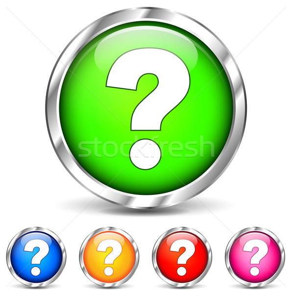 question mark icons Stock photo © nickylarson974