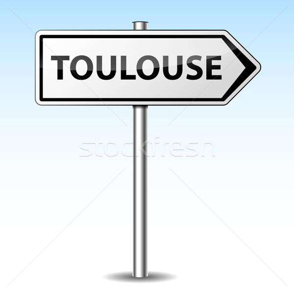Vector toulouse directional sign Stock photo © nickylarson974