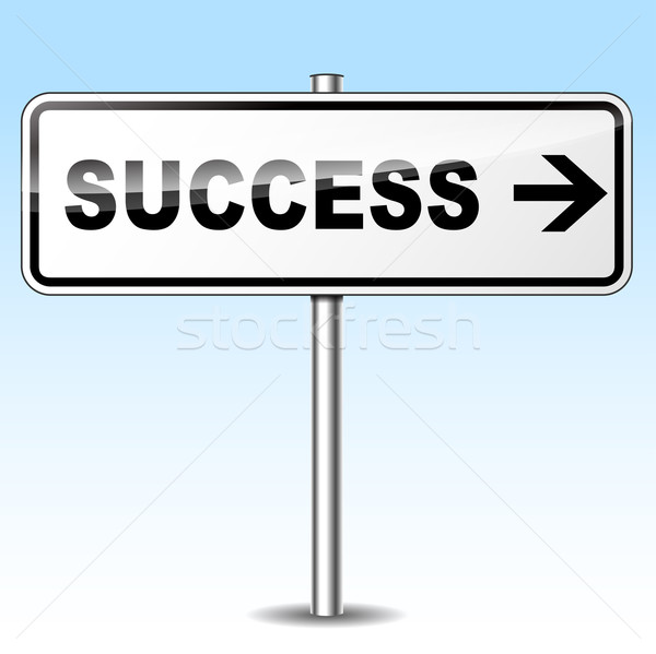 Stock photo: Vector success directional sign