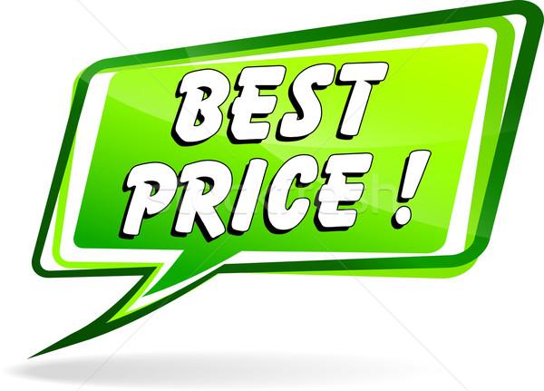 Legjobb ár beszéd illusztráció szavak zöld felirat Stock fotó © nickylarson974