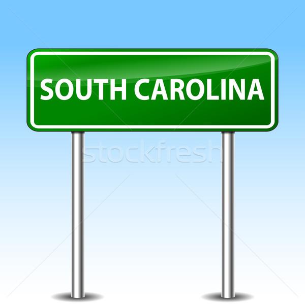 サウスカロライナ州 緑 にログイン 実例 金属 道路標識 ストックフォト © nickylarson974