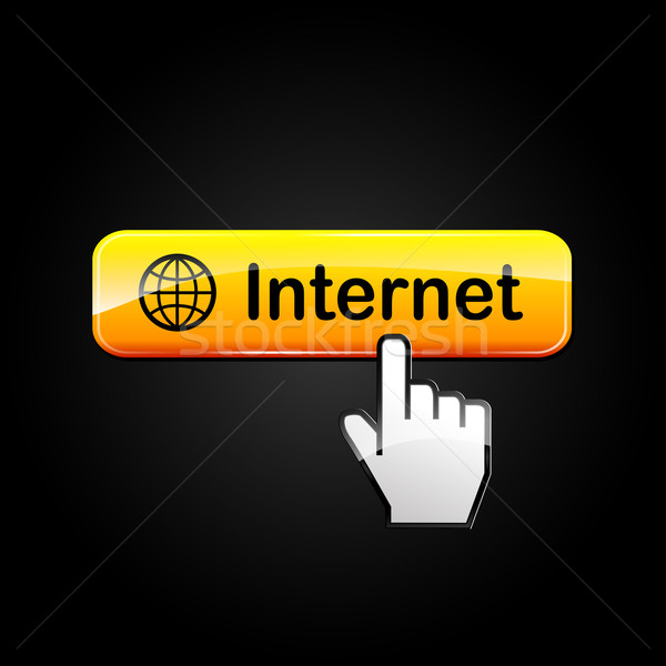 internet orange web button Stock photo © nickylarson974