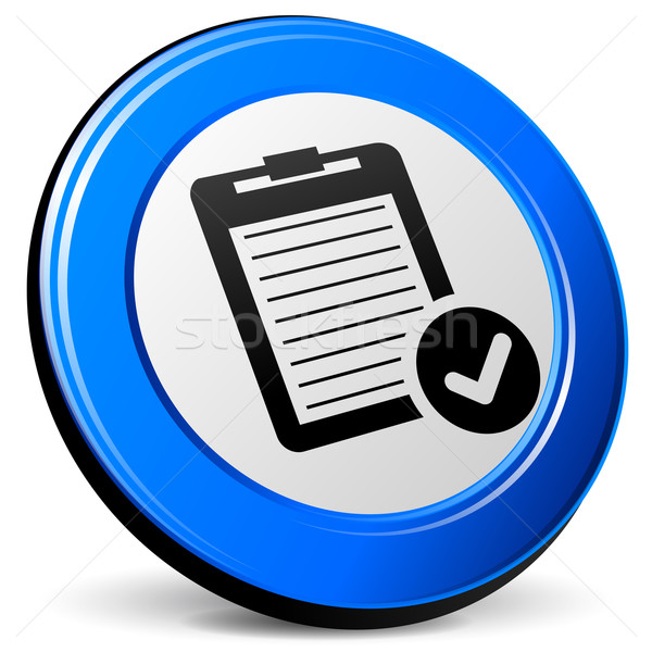 Rapor ikon örnek 3D mavi dizayn Stok fotoğraf © nickylarson974
