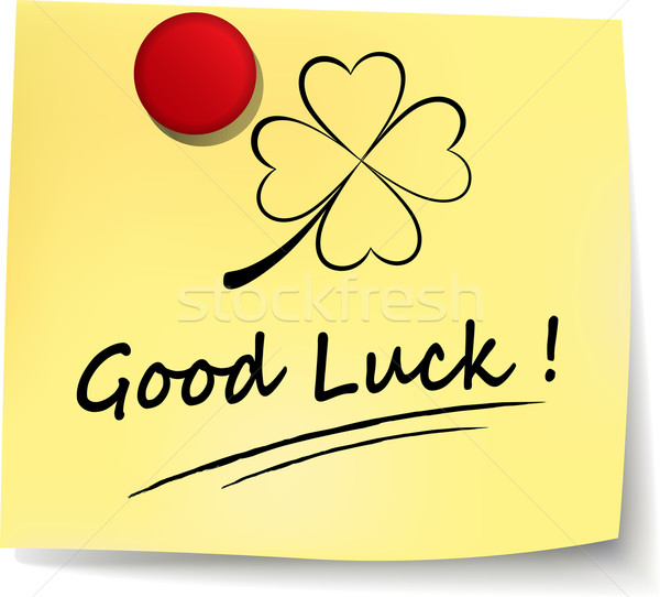 good luck yellow note Stock photo © nickylarson974