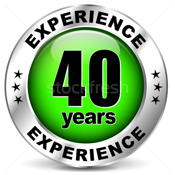 Vierzig Jahre Erfahrung Symbol weiß Zeichen Stock foto © nickylarson974