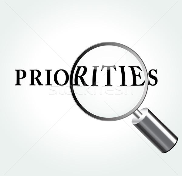 Vector priorities concept illustration Stock photo © nickylarson974