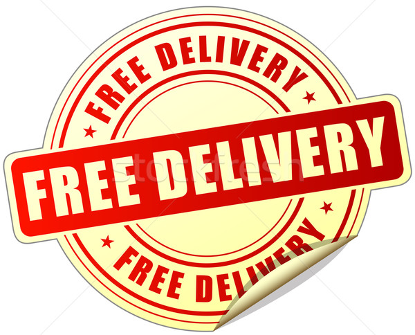 Stock photo: free delivery label