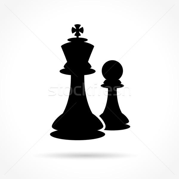 шахматам икона белый иллюстрация успех совета Сток-фото © nickylarson974