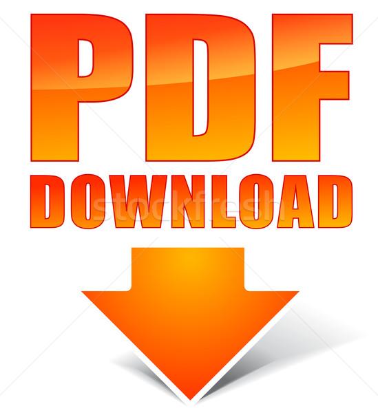 Pdf скачать icon веб белый документа файла Сток-фото © nickylarson974
