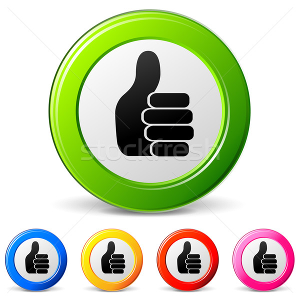 Stock photo: ok hand icons