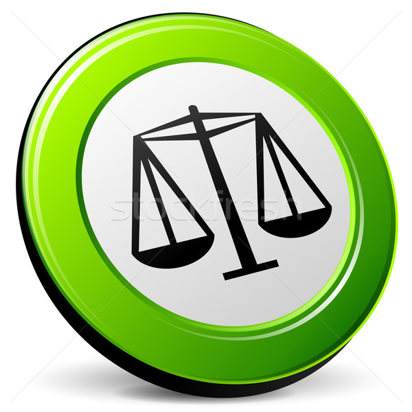 Vector law 3d icon Stock photo © nickylarson974