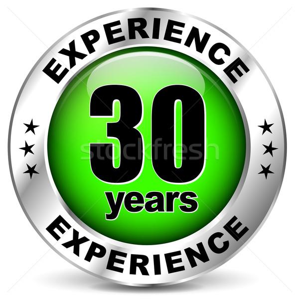 Trenta anni esperienza icona bianco segno Foto d'archivio © nickylarson974