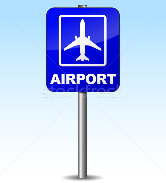 Stock photo: Vector airplane sign for airport