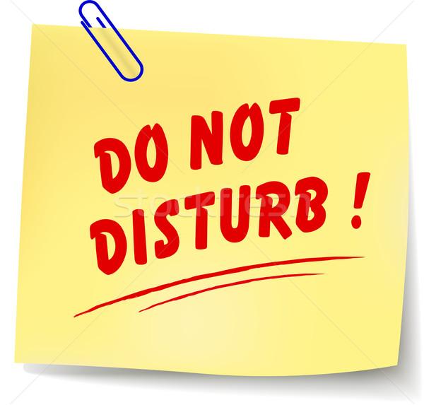 Vector do not disturb message Stock photo © nickylarson974