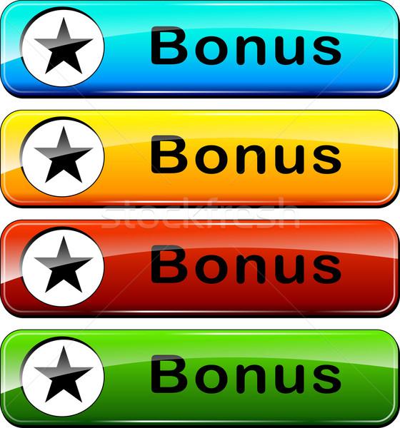 бонус веб Кнопки иллюстрация красочный набор Сток-фото © nickylarson974