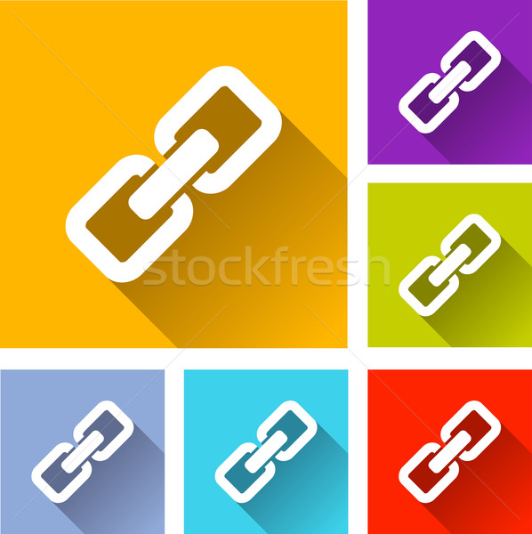 Link Symbole Illustration Design Set Sicherheit Stock foto © nickylarson974