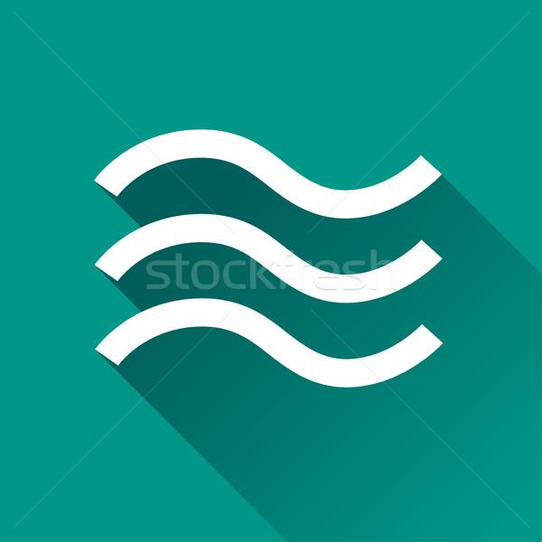 наводнения дизайна икона иллюстрация тень воды Сток-фото © nickylarson974