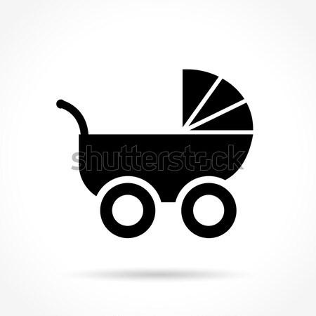 Kinderwagen icon ontwerp illustratie schaduw kind Stockfoto © nickylarson974