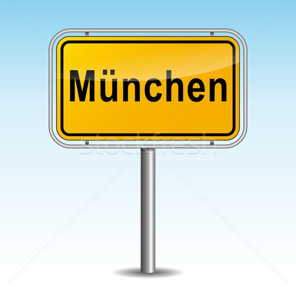 Vector Munich poste indicador cielo ciudad diseno Foto stock © nickylarson974
