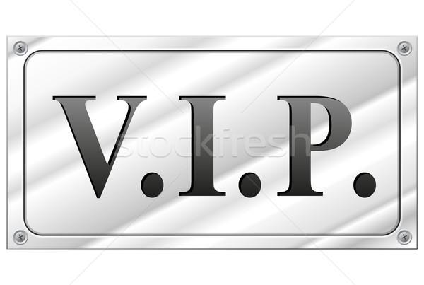 ベクトル vip にログイン 長方形の 白 技術 ストックフォト © nickylarson974