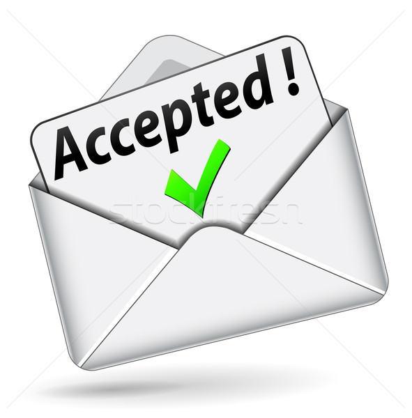 Vector accepted envelope icon Stock photo © nickylarson974