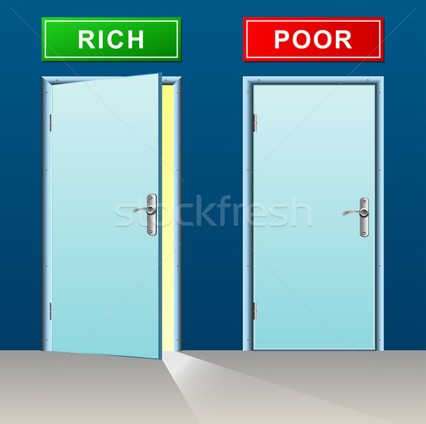 rich and poor doors concept Stock photo © nickylarson974