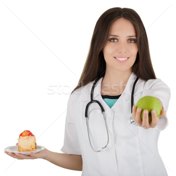 Nutritionist Comparing Diets Stock photo © NicoletaIonescu