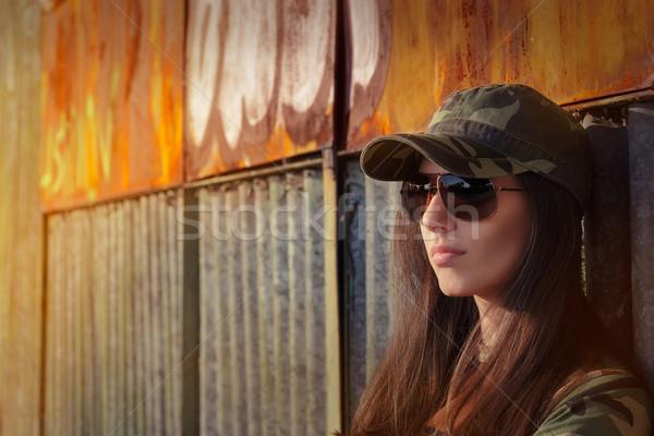 солдата портрет жесткий красивой Сток-фото © NicoletaIonescu