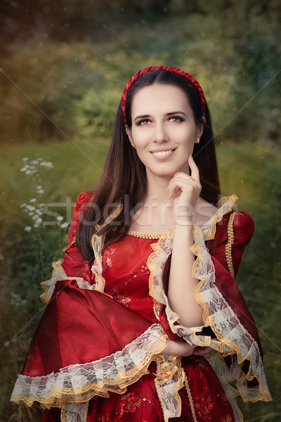 Beautiful Medieval Princess Smiling Stock photo © NicoletaIonescu