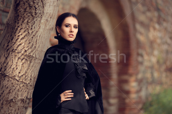 Beautiful Dark Princess at the Castle Stock photo © NicoletaIonescu