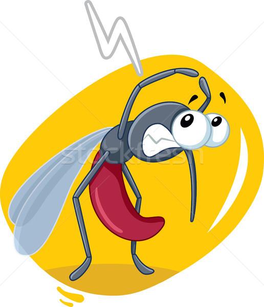 Paura zanzara insetto vettore cartoon Bad Foto d'archivio © NicoletaIonescu
