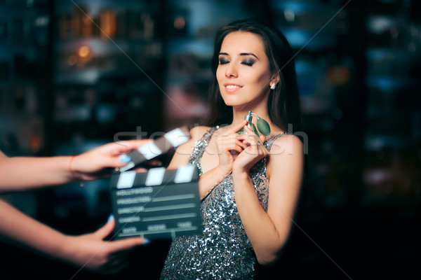 Model Acting in Perfume Commercial Ready to Film New Scene Stock photo © NicoletaIonescu