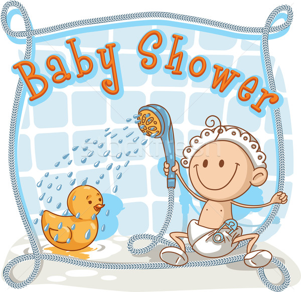 Baby Shower - Vector Cartoon Invitation  Stock photo © NicoletaIonescu