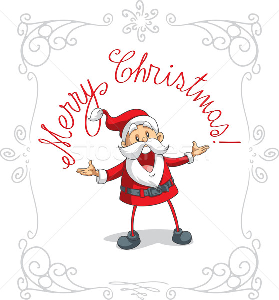 Santa Claus Merry Christmas Vector Cartoon Stock photo © NicoletaIonescu