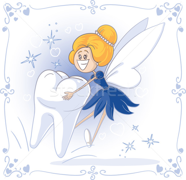 Tooth Fairy Vector Cartoon Stock photo © NicoletaIonescu