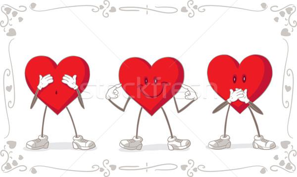 Valentine Day Vector Card Stock photo © NicoletaIonescu
