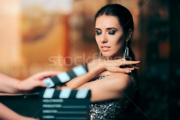 Glamorous Model Starring in Fashion Campaign Video Commercial Stock photo © NicoletaIonescu